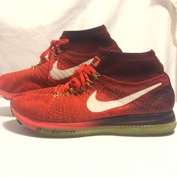 3d6373e7ba2a Red Nike Zoom All Out Flyknit Running 844134 - 616.  M 5bea60c3035cf1fd2b243459